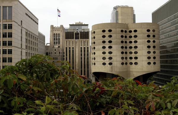 The old Prentice Women's Hospital in Streeterville was completed in 1975. It was designed by Bertrand Goldberg so that patients' rooms were within sight of nurses' stations and fathers could be present at childbirth. Preservation groups are fighting to get the building landmark status.