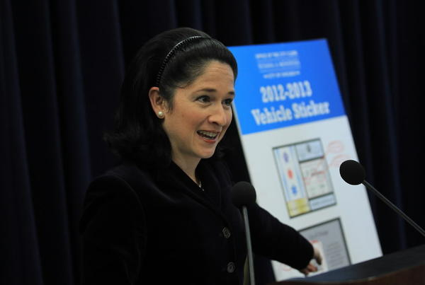 City Clerk Susana Mendoza is talking about a staggered deadline to buy a city sticker.