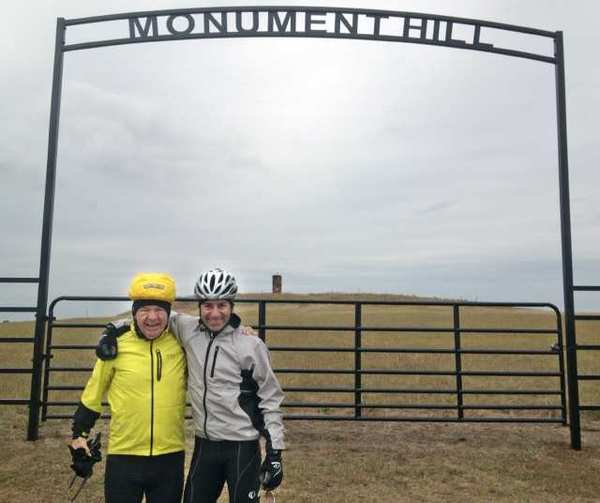 Don Sheppard and fellow rider Jeff Lipshultz at Monument Hill in Oklahoma. (Don Sheppard and fellow rider Jeff Lipshultz at Monument Hill in Oklahoma.