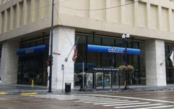 A Citibank branch in the Loop that was robbed today.