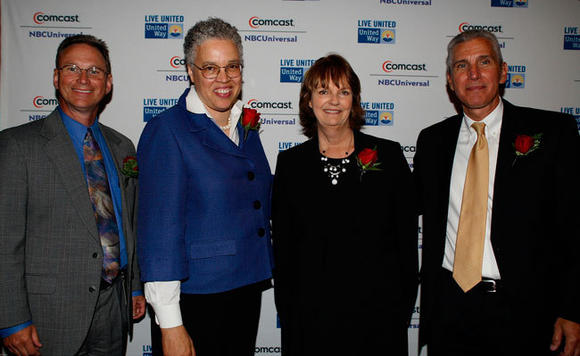 Northwest Suburban United Way hosted its annual Celebration Event in June to honor this year's top donors, volunteers and top corporate partners. (From left to right: James Tansor, Toni Preckwinkle, Marcia McMahon, and Michael Abruzzini.)