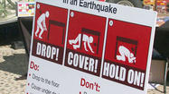 SAN DIEGO -- Preparing for ``the big one'' will be the goal of a statewide earthquake drill today, when San Diego-area government offices, businesses, schools and other organizations will stop everything for a minute