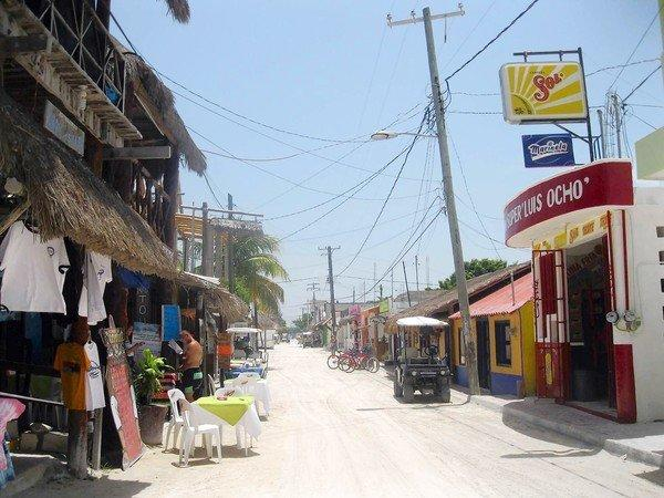 A view of the main street on Isla Holbox. The island is at the center of a legal dispute over a proposed resort development.