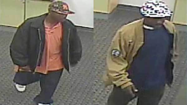 Police released photos of two men sought in a store robbery in Oak Lawn.