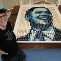 Obama portrait in cupcakes by Zilly Rosen