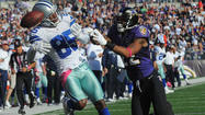 Anquan Boldin bellowed advice from the sideline to Ravens cornerback Jimmy Smith, delivering a sage last-second tip that Dallas Cowboys quarterback Tony Romo would be throwing the football in his direction.