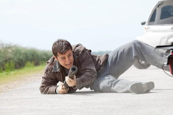 "Joseph Gordon-Levitt stars in ""Looper."""