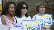 Photo Gallery: Prop 38 supporters at Verdugo Park