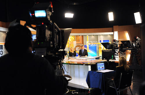 The 17th District Congressional Debate is held between (right) Matt Cartwright (DEM) and (Left) Laureen Cummings (REP) at the PBS39 studio at SteelStacks on Wednesday.