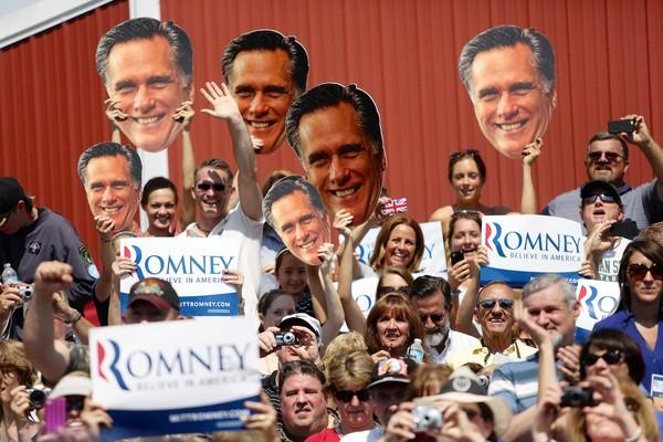 Conservatives have been oddly silent as Mitt Romney's rhetoric has tacked sharply moderate.
