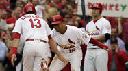 ST. LOUIS -- Overcoming an injury to Carlos Beltran and a lengthy weather delay, the St. Louis Cardinals gained the upper hand in the National League Championship Series with a 3-1 victory over the San Francisco Giants in Game 3 from Busch Stadium.