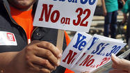 Prop. 32's real purpose is to cripple labor unions politically