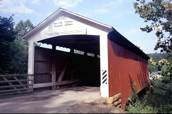 The Billie Creek Covered Bridge, built in 1895, will be part of this weekend's auction in Parke County, Ind.