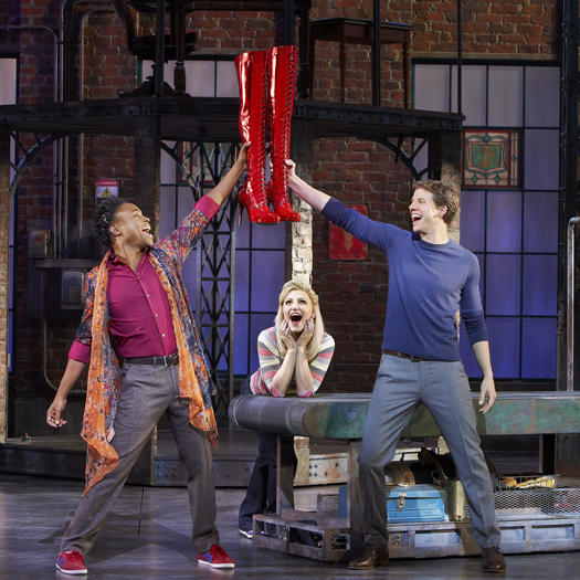 "Billy Porter, Annaleigh Ashford and Stark Sands in ""Kinky Boots."""