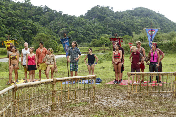 Tandang, Matsing and Kalabaw Tribe prepare for the reward challenge.