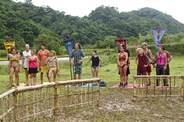 Tandang, Matsing and Kalabaw Tribe prepare for the reward challenge.