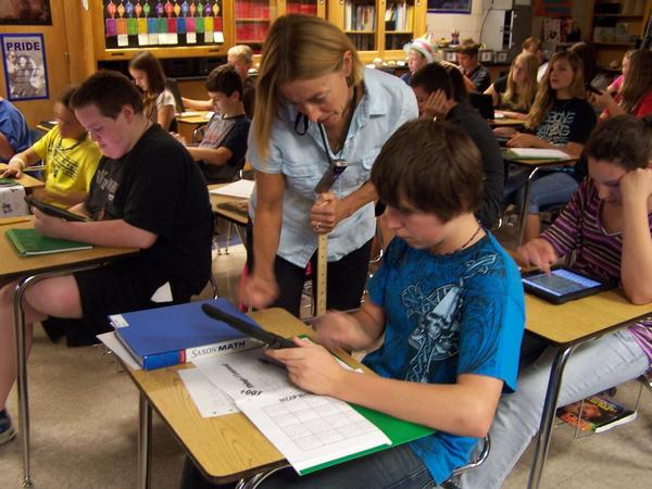 Every student in Boyne City Public Schools has been given an iPad this year to use in class and at home. The district bought 1,400 of the tablets through a voter-approved bond and teachers from kindergarten through 12th grade report they have discovered numerous uses for the new devices that alter teaching and learning.