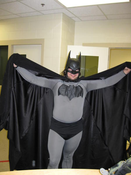 Mark Wayne Williams, seen here in his Batman costume after his 2011 arrest, pleaded not guilty Thursday to resisting and obstructing police in an investigation.