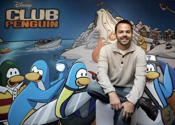Co-founder Lane Merrifield during the opening of the new Club Penguin in Sydney in 2008.