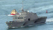 SAN DIEGO -- A new shallow-draft Navy ship that is faster than its predecessors arrived Thursday morning at its homeport of San Diego.