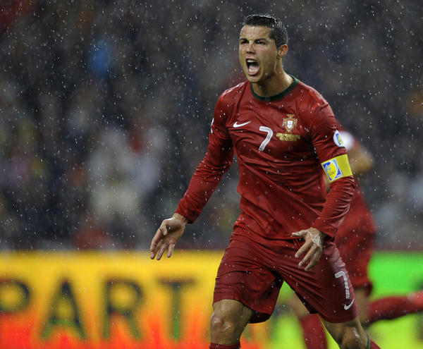 Portugal's Cristiano Ronaldo reacts during the World Cup 2014 qualifying match against Northern Ireland on Oct. 16.