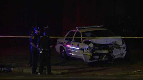 An officer involved in a fatal collision while on his way to a police chase in July has been arrested. Officer Taikwon Dudley was arrested Thursday morning and charged with negligent homicide with a motor vehicle, reckless driving, traveling unreasonably fast and failure to obey a traffic control signal, according to court documents.