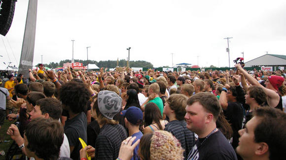The Big Ticket Festival will bring hundreds of fans to the Otsego County Fairgrounds in June of 2013. This image from the last Gaylord show in 2010 shows a mob of people waiting for The Devil Wears Prada to perform.
