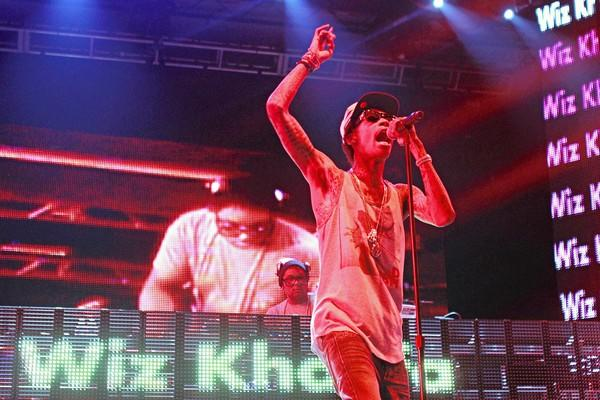 Wiz Khalifa performs at North Coast music festival in Union Park last month.