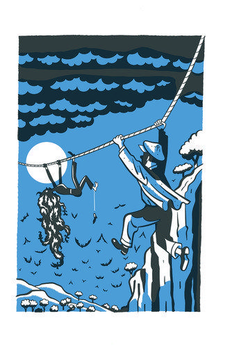 """An illustration from """"Who Could That be at This Hour?"""" by Lemony Snicket."""