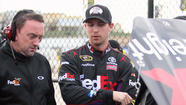 Hamlin crashes during testing at Kansas Speedway