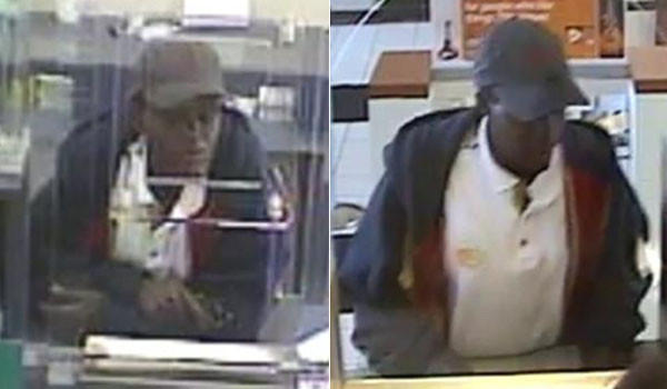 Surveillance photos of a woman who robbed an Oak Park bank (left) after trying to rob a Chicago bank (right).