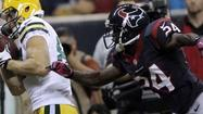 Johnathan Joseph has been battling a sore groin, and the Houston Texans cornerback is not expected to practice until Friday. Joseph doesn't lead the defense in interceptions (that would be cornerback Kareem Jackson with three) or pass breakups (that would be defensive end J.J. Watt with eight), but his possible absence would be significant to the Ravens.