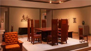 Thirteen pieces of furniture designed by architect Frank Lloyd Wright have been acquired by the Huntington Library, Art Collections, and Botanical Gardens in San Marino. The organization said that the furniture has been on display since 2009 as part of a long-term loan from the prominent New York collectors Joyce and Erving Wolf.