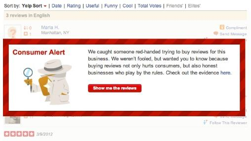 Yelp lashes back at reviews-for-hire