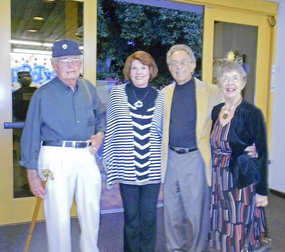 Andy Anderson, Martha Anderson, Jim and Karen McBride at Friends of the Library dinner.