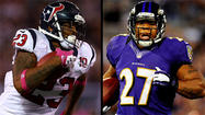 Whenever Ravens running back Ray Rice carries the football or catches passes Sunday, Arian Foster intends to keep a close watch.