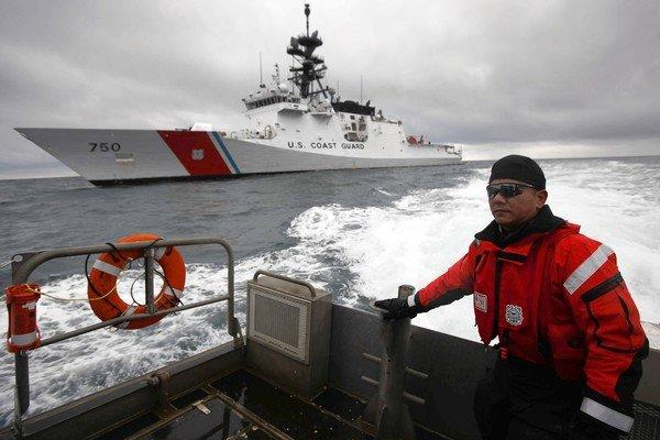 The U.S. Coast Guard cutter Bertholf has been busy of late, monitoring shipping traffic off Alaska's northern coast.