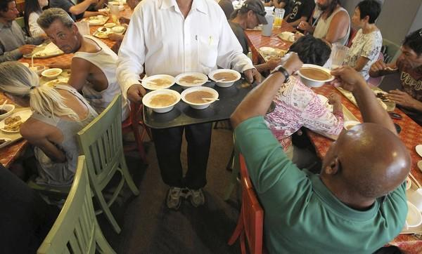 Someone Cares soup kitchen in Costa Mesa serves 300 homeless people daily.