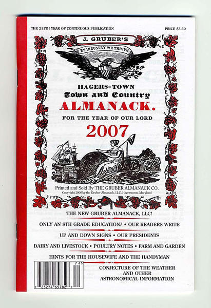 The Hagers-Town Town and Country Almanack is getting an award for its contributions to Maryland's cultural heritage. The almanac and the other two winners of this year's Achievement in Living Traditions and Arts (ALTA) Awards will be honored at a ceremony at the Montgomery College Cultural Arts Center in December.