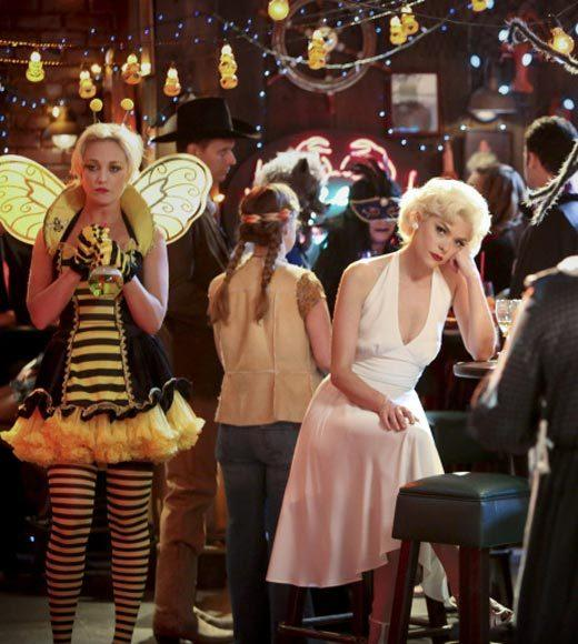 'Happy Endings' and more: Halloween on TV 2012: With Halloween right around the corner, Zoe (Rachel Bilson) begins to notice some odd occurrences happening in her home. She is shocked to discover that the culprit is George (Scott Porter), but she soon realizes that he may have a sleepwalking issue. Concerned for his safety, they decide to conduct a sleep study, forcing her to cancel her big plans with Wade (Wilson Bethel). Meanwhile, the Mayoral race between Lavon (Cress Williams) and Ruby (guest star Golden Brooks) is close, and AnnaBeth (guest star Kaitlyn Black) comes up with an unusual plan that may help him clinch the election leaving Lemon (Jaime King) feeling uneasy.   Airs: Tuesday, Oct. 30 at 8 p.m. ET/PT on the CW.