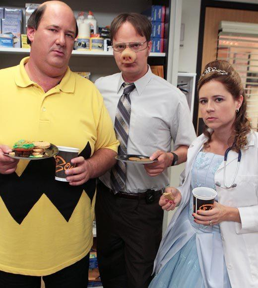 'Happy Endings' and more: Halloween on TV 2012: It�s Halloween in the office and Andy (Ed Helms) invites his college a cappella group to perform, which leads to a confrontation with his frenemy Broccoli Rob (guest star Stephen Colbert). Meanwhile, Dwight (Rainn Wilson) finds evidence that a madman is loose in the office and tries to track him down, and the first meeting of Jim�s (John Krasinski) new job causes a fight with Pam.  Airs: Thursday, Oct. 25 at 9 p.m. ET/PT on NBC.