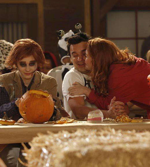 'Happy Endings' and more: Halloween on TV 2012: Nick (Jake Johnson) gets a visit from a former college crush (guest star Maria Thayer) who proves annoying to both him and Jess (Zooey Deschanel)  Airs: Tuesday, Oct. 30 at 9 p.m. ET/PT on FOX.