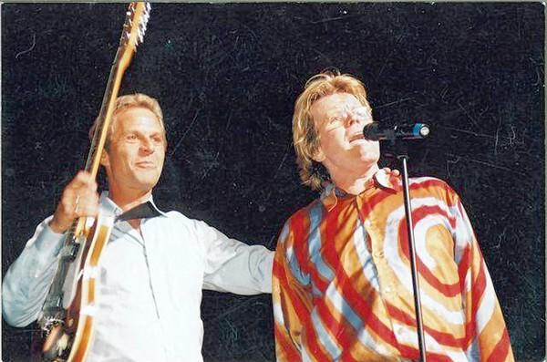 Rick Levy (left) with Peter Noone of the Herman's Hermits.