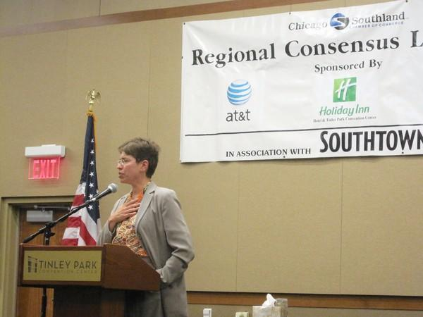 Strengthening links between educators and employers to better prepare the workforce was one highlight of Illinois Lt. Gov. Sheila Simon's recent address in Tinley Park. Simon was the guest speaker at a luncheon sponsored by the Chicago Southland Chamber of Commerce in Tinley Park last week.