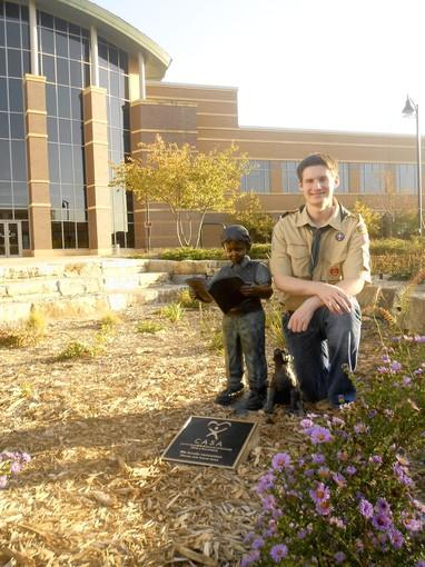 Daniel Weber helped create a garden outside the DuPage County Courthouse.