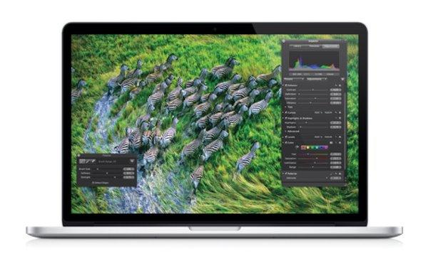 An image of the current 15-inch MacBook Pro with Retina display.