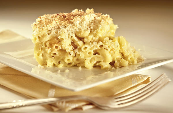 The macaroni and cheese at King's Fish House restaurants is topped with panko bread crumbs for added crunch. Recipe