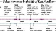 Select moments in the life of Ken Nordine