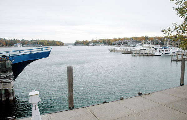 Charlevoix city officials have commissioned an engineering study that will look at the possibility of adding another dock for large vessel on the north end of the city marina in the area pictured above.