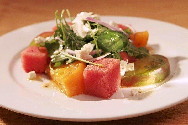 Tomato and watermelon salad from The Hungry Cat.
